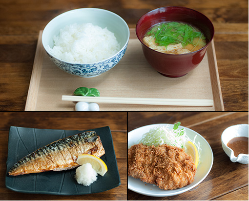 Some images of the fresh and healthy food served at Matsu no Ha in Hiyoshi.